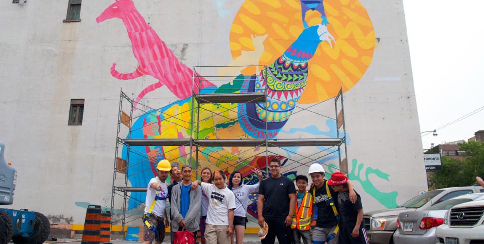 Behind-the-Scenes Photos of the Piliriqatigiingniq Mural in Toronto